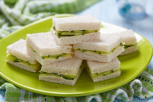 Cucumber sandwiches using your own fresh produce